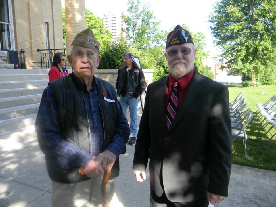 Image of two veterans standing together